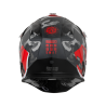 Casco JUST1 J32 PRO SWAT CAMO Rojo Flúor
